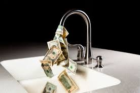 money going down the sink