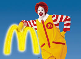 ronald mcdonald and golden arches